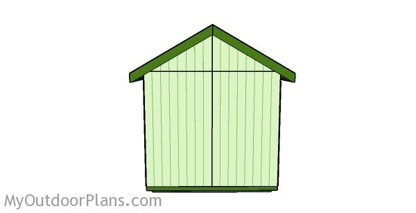 100 8x8 Slant Roof Shed Plans 4x8
